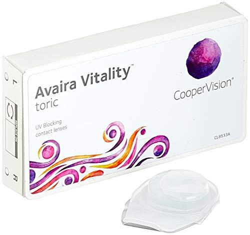 Cooper Vision Avaira Toric Monatslinsen weich, 3 Stück/BC 8.5 mm/DIA 14.5 mm/CYL -1.75 / ACHSE 50 / +0.25 Dioptrien