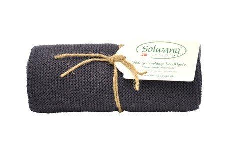 Solwang Handtuch in dunkelgrau, Küchentuch aus Baumwolle