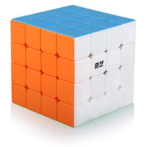 Zauberwürfel 4x4 4x4x4 Speed Cube Stickerless Magic Cube Puzzle Magischer Würfel für Schneller und Präziser mit Lebendigen Farben