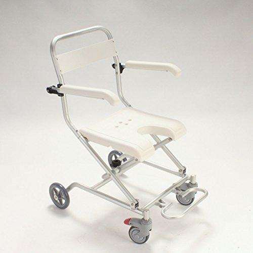 Cqq chaise de bain Poulie en alliage d'aluminium avec chaise de salle de bain Vieux homme prenant un fauteuil roulant Chaise de douche Foldable anti-rouille