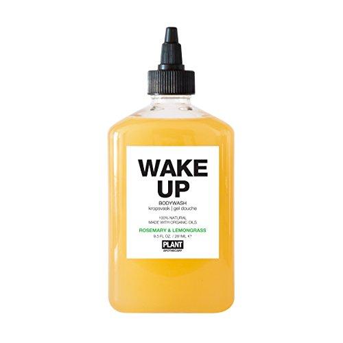 PLANT Apothecary Wake Up Botanical Aromatherapy Body Wash - USDA Organic Rosemary & Lemongrass Essential Oils - For Unisex - 9.5 oz Body Wash
