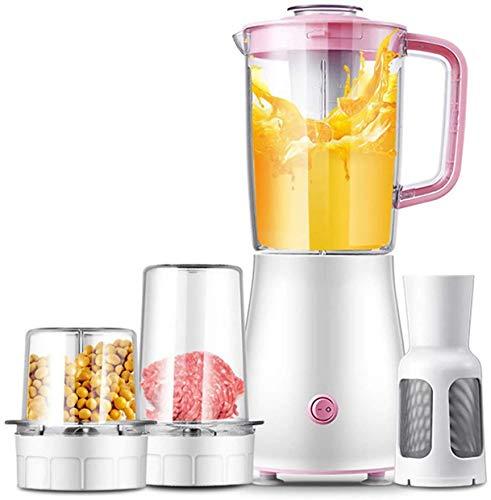 LKOER Blender Multifunction Blender con procesador de Alimentos, Molinillo de Especias y Botella portátil, 22000 RPM Blender de Alta Velocidad jinyang (Color : Pink)