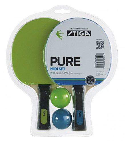 Stiga Midi Set - Raquetas midi y pelotas de ping ping Pong tenis de mesa