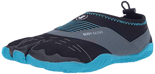 Body Glove Women's 3T Barefoot Cinch Water Shoe, Black/Oasis Blue, 7