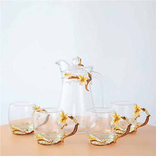 Mode Emaille Kleur Lelie Water Cup Thuis Koffie Cup Zachte zuster Cup Kristal Glas Sap Cup Vrouwelijke Bloem Theekopjes Mokken