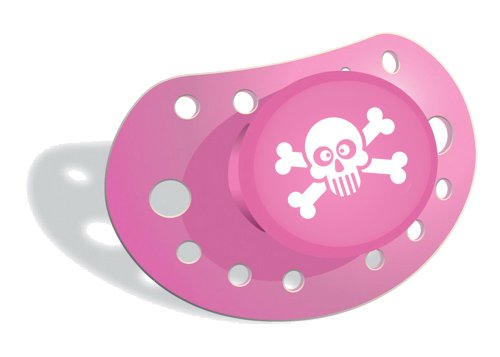 Elodie Details 1296 - Schnuller Jolly pink, kiefergerecht, ab 3 Monaten geeignet