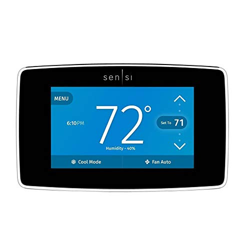 Emerson Sensi Touch Wi-Fi Smart Thermostat with Touchscreen Color Display, Works with Alexa, Energy Star Certified, C-wire Required, ST75 (Renewed)