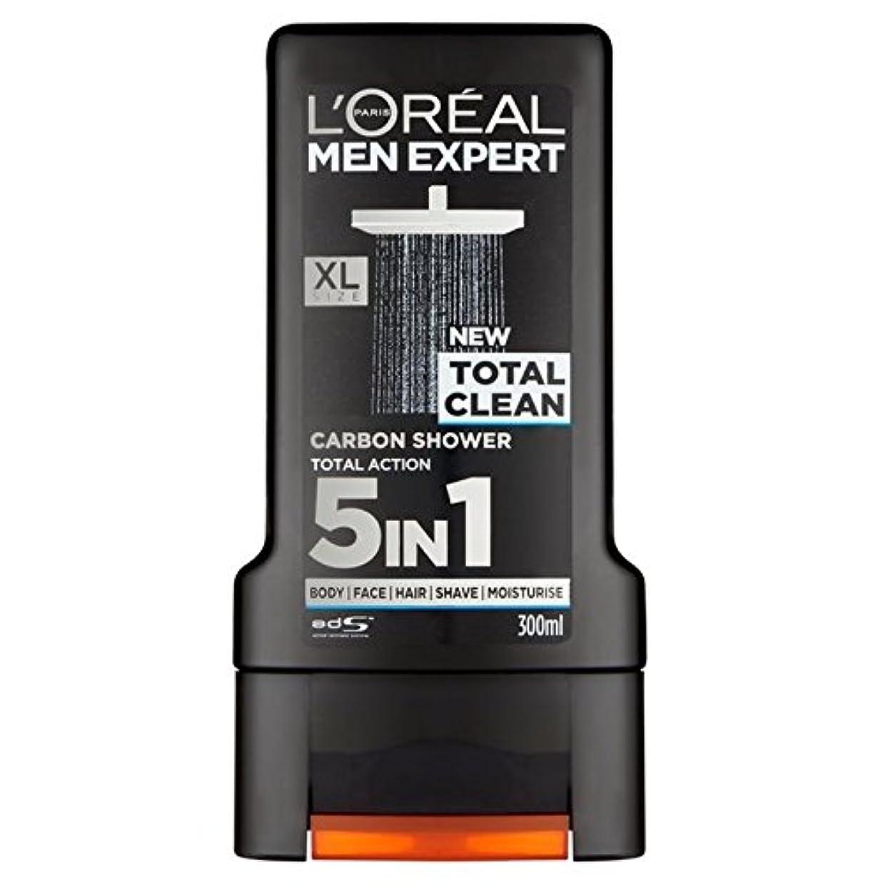 出費臨検見出しL'Oreal Paris Men Expert Total Clean Shower Gel 300ml (Pack of 6) - ロレアルパリのメンズ専門トータルクリーンシャワージェル300ミリリットル x6 [並行輸入品]
