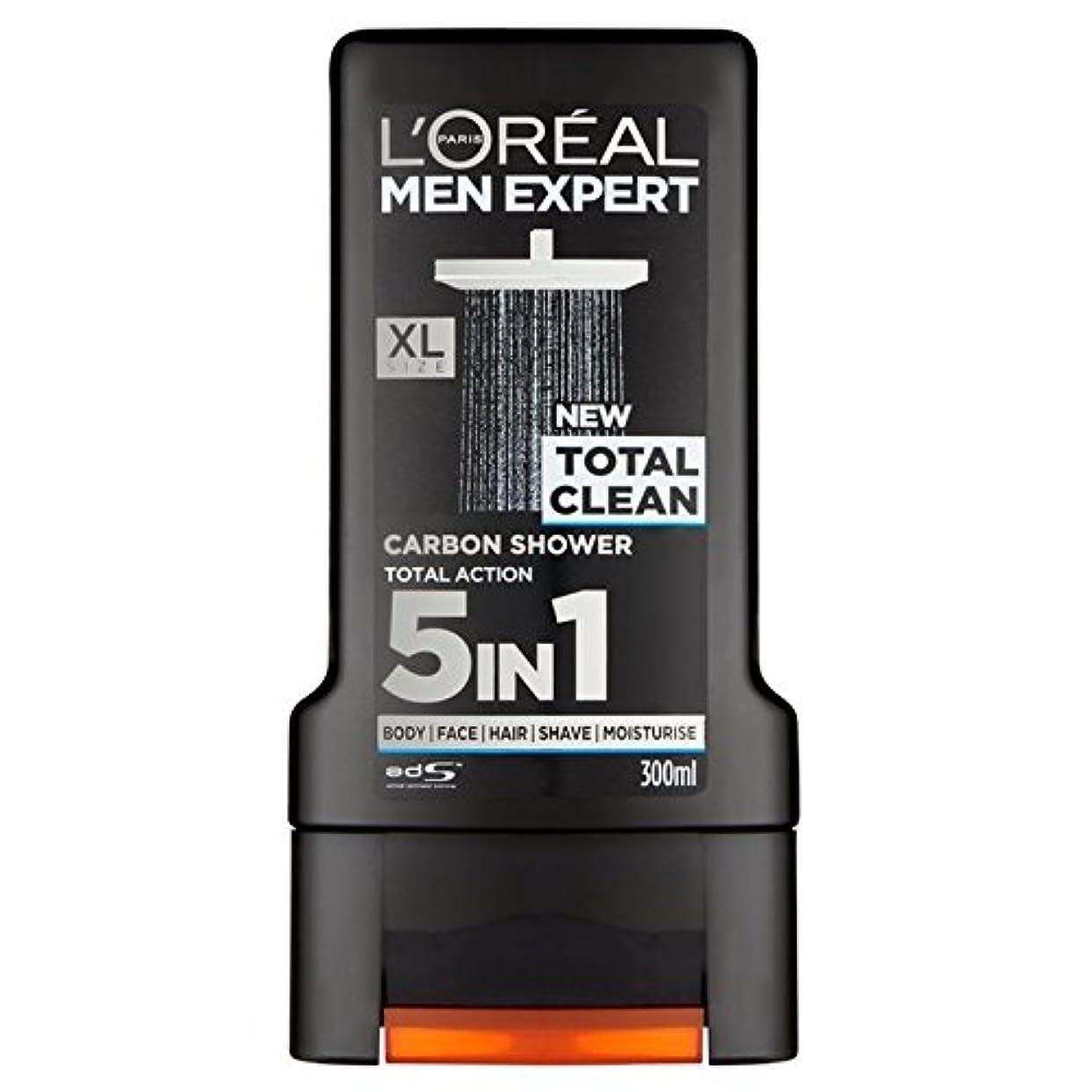 鎮静剤調停者薄暗いL'Oreal Paris Men Expert Total Clean Shower Gel 300ml - ロレアルパリのメンズ専門トータルクリーンシャワージェル300ミリリットル [並行輸入品]