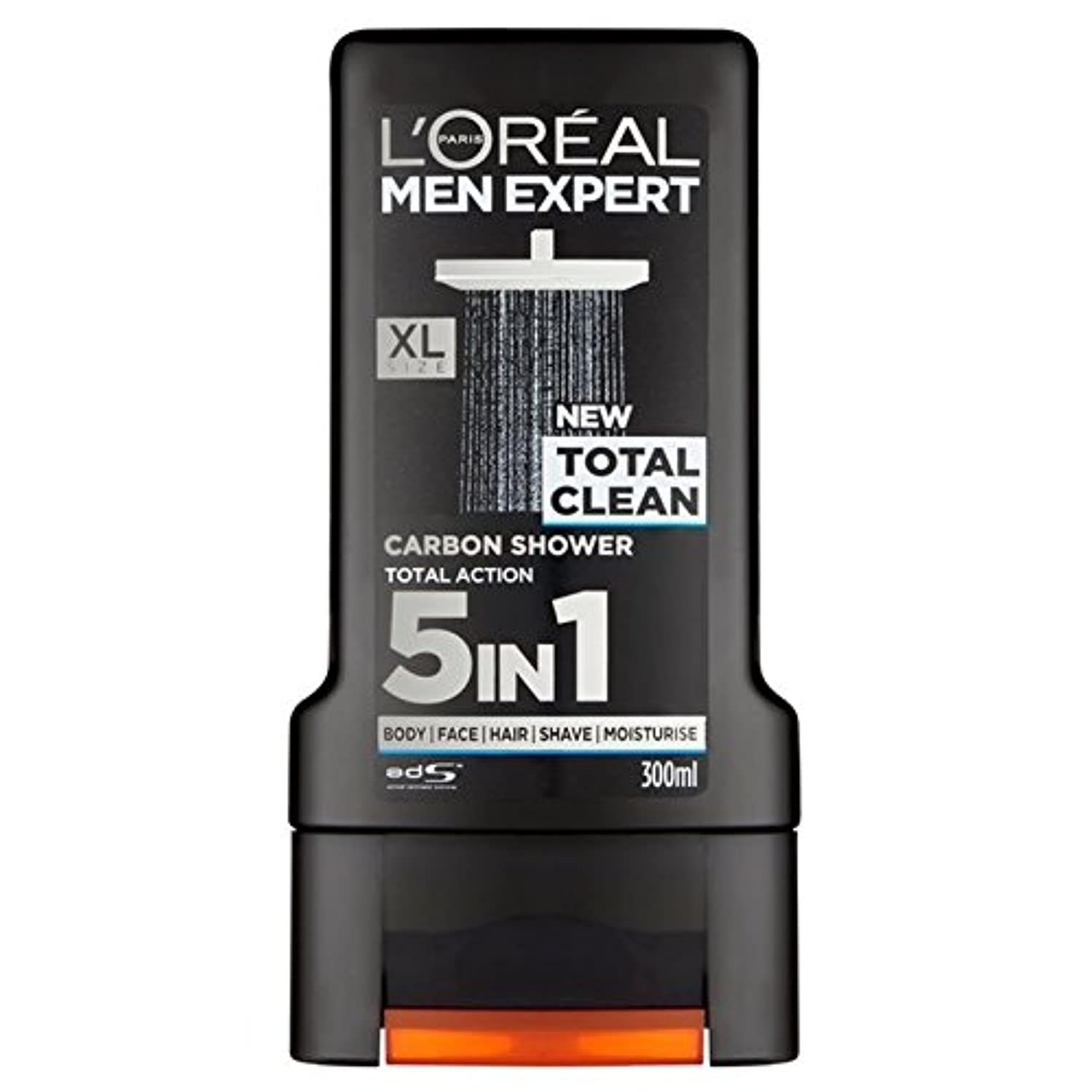 遠征アーチ描くL'Oreal Paris Men Expert Total Clean Shower Gel 300ml - ロレアルパリのメンズ専門トータルクリーンシャワージェル300ミリリットル [並行輸入品]