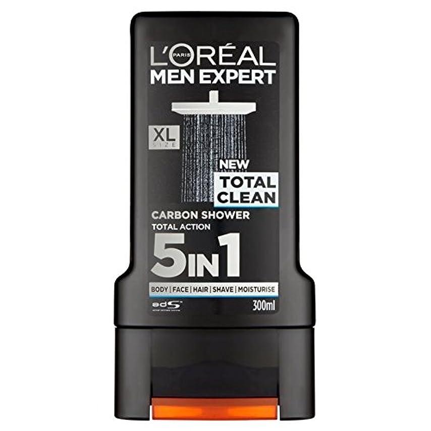 力強い胚運河L'Oreal Paris Men Expert Total Clean Shower Gel 300ml (Pack of 6) - ロレアルパリのメンズ専門トータルクリーンシャワージェル300ミリリットル x6 [並行輸入品]