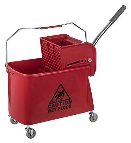 20 Litre Kentucky Mop Bucket Professional Commercial Cleaning Combo Bucket RED
