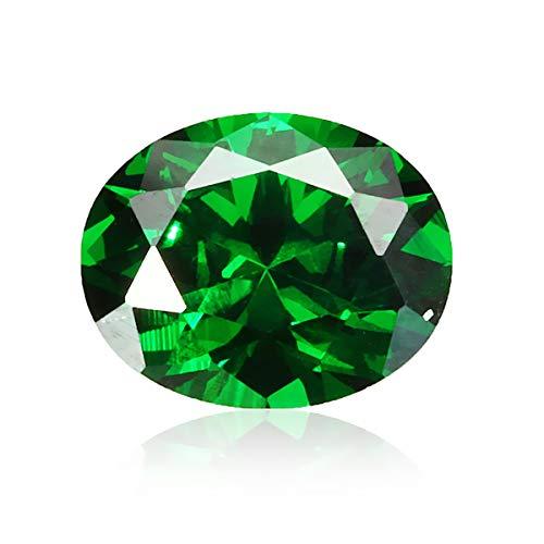 CCChaRLes Natural Mined Colombia Green Emerald 8X10Mm 4.16Ct Oval Cut Vvs Aaa Decoraciones De Gemas Sueltas