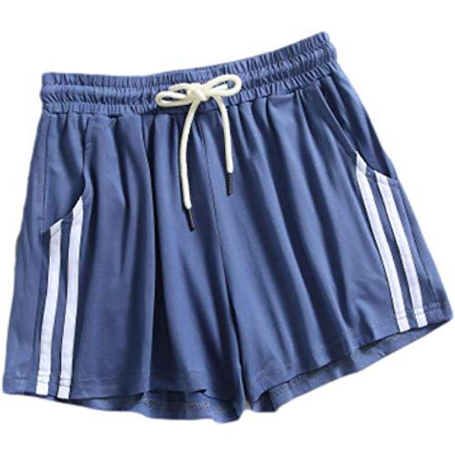 Fainash Pantalones Cortos Deportivos para Mujer, Sueltos, cómodos, de Moda, Todo fósforo, Ropa de Calle, Fitness, Correr, Ocio al Aire Libre, Pantalones Cortos básicos L