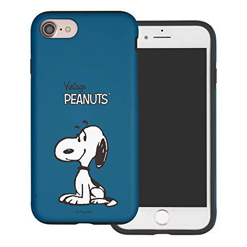 iPhone 5S / iPhone 5 / iPhone SE(2016) ケース と互換性があります Peanuts Snoopy ピーナッツ スヌーピー ダブル バンパー ケース デュアルレイヤー 【 アイフォン5S / アイフォン5 / アイフォン