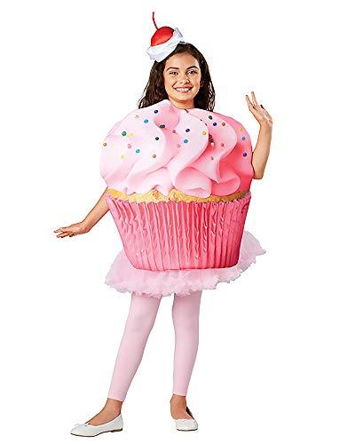 Seasons Direct Halloween Children Cupcake Confetti Costume (XS(2-4T)) Pink