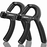 KDG Grip Strength Trainer 2 Pack,Hand Grip Strengthener,Hand exerciser Adjustable Resistance 22-132Lbs,Hand Gripper Perfect for Athletes to Muscle Building and Injury Recovery Forearm Exerciser