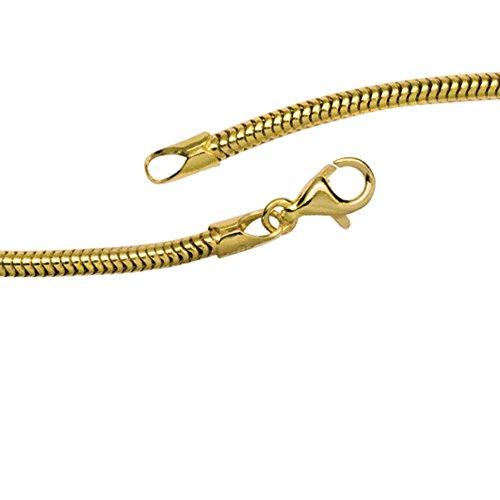 JOBO Schlangenkette aus 333 Gold Gelbgold 2,4 mm 42 cm Kette Halskette Goldkette