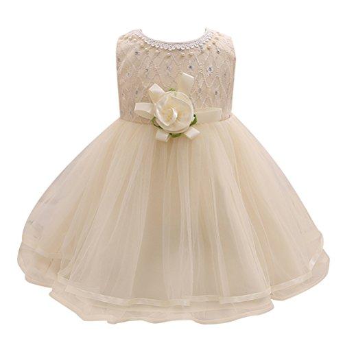 Zhhlinyuan 0-24 Months,Mode Newborn Toddler Baby Girls Sleeveless Big Flower Princess Dress Kids Tulle Party Pageant Wedding Bridesmaid Tutu Dresses