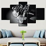 Cuadro sobre Impresión Lienzo 5 Piezas Cigüeñal del pistón del motor HD Abstracta Imágenes Modulares Sala De Estar cuadro decorativo abstracto salon dormitorio Decoración para El Hogar 100X55Cm