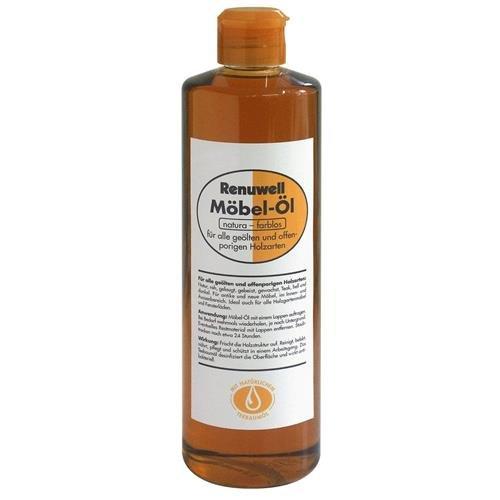 Renuwell Möbel-Öl 500ml natura-farblos mit natürlichem Teebaumöl für alle