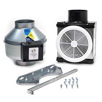 Fantech PB110 Inline Exhaust Bath Fan Kit 110 CFM Remote mount fan for 4  duct