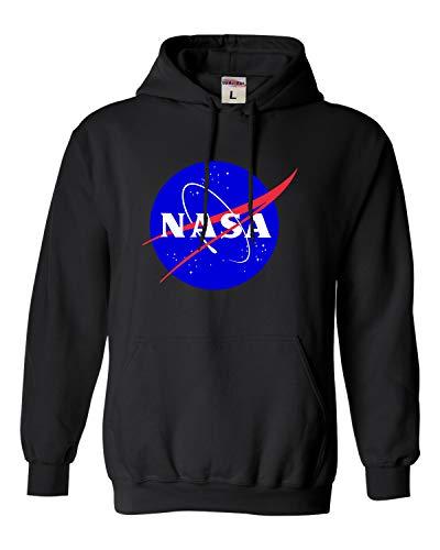 Go All Out Medium Black Adult NASA Logo Sweatshirt Hoodie