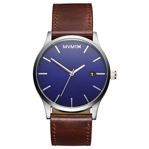 MVMT Men's Minimalist Vintage Watch with Analog Date | Blue Brown