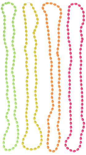 4 x Neon Neads Necklaces in 4 Colors for Women