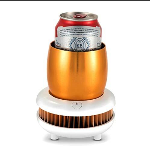 JINRU Tragbarer Mini-Kühlschrank des elektrischen 12V elektrischer Sommer-Getränkekühler-Wasserkocher-Getränk-sofortige abkühlende Schale Auto-Ausgangskühler Gefrierschrank,Gold