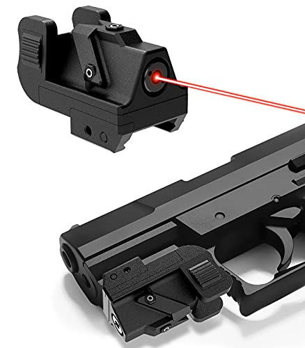 QR-Laser Red Gun Laser Sight Tactical Dot Picatinny Rail Mount for Pistols Handguns Subcompact USB Rechargeable Upgraded R10