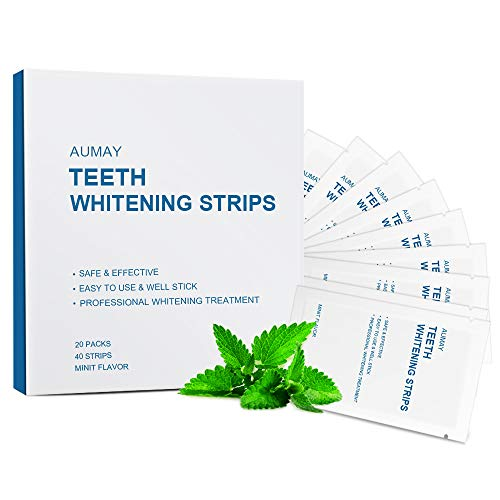 Teeth Whitening Strips with Non-Slip Tech, Pack of 40 Strips, Professional Teeth Whitening Kit Gel Products for Sensitive Tooth, Removes Coffee, Tea & Tobacco Stains