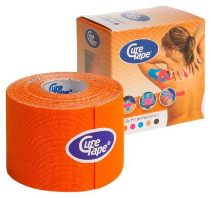 CureTape Kinesiologie Tape für Sport & Medizin orange 5 m x 5 cm, 1 Rolle