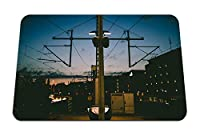 22cmx18cm マウスパッド (夜市ポストワイヤー都市インフラベルリン) パターンカスタムの マウスパッド