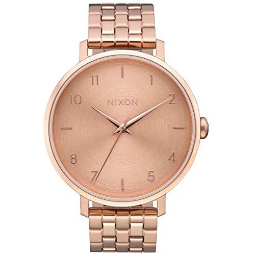 Nixon Damen Analog Quarz Uhr mit Edelstahl Armband A1090897-00