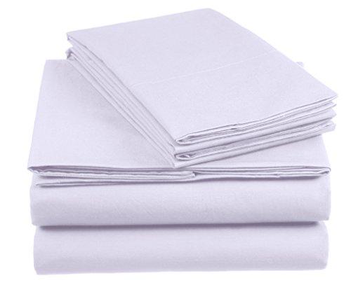 AmazonBasics Everyday - Juego de fundas de edredón nórdico y de almohada (100% algodón) Lila - 155 x 200 cm y 2 fundas 80 x 80 cm
