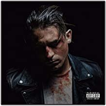 MZCYL Canvas Painting Wall Art Picture G-Eazy The Beautiful & Damned Rapper Music Poster Print Canvas Painting Sin Marco 50 * 50Cm