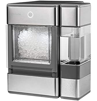 GE Major Appliances GE Profile Opal | Countertop Nugget Ice Maker Stainless Steel Wrap with Gray Accents & LED Lighting