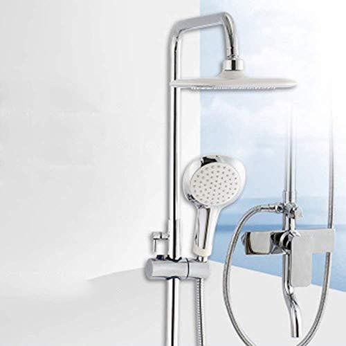 CLJ-LJ Ducha de baño conjunto de ducha de cobre caliente y fría grifo ducha Booster ducha ducha ducha ducha fija