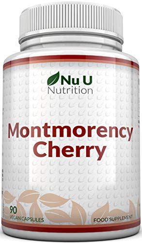 Montmorency Cherry Capsules | 90 Capsules | Not Extract, Freeze Dried Montmorency Cherry | No Fillers or Binders by Nu U Nutrition