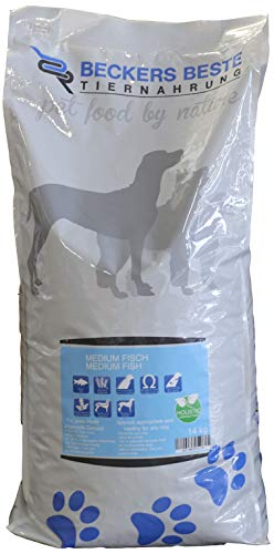Beckers Beste - Hundefutter sensitiv mit Medium Fisch 14kg - glutenfreies Trockenfutter für große und kleine Hunde (Junghund/Adult/Senior) - Allergie-Futter ohne Weizen