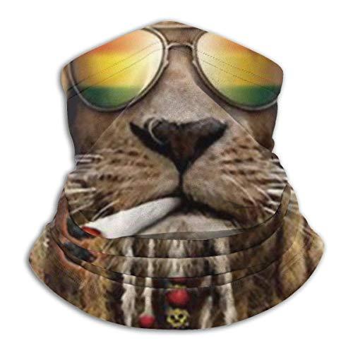 N / A Reggae Rasta Cool Lion Cuello Bufanda Secado Rápido Cuello Pañuelo Customed Calentador De Cuello Protección UV Bufanda Facial para Mujer Hombre