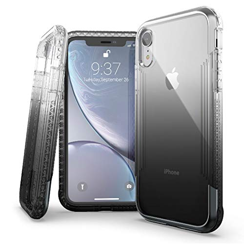 X-Doria Defense Air, iPhone XR Case - Military Grade Drop Tested, Anodized Aluminum, TPU, and Polycarbonate Protective Case for Apple iPhone XR, 6.1 Inch LCD Screen (Black)