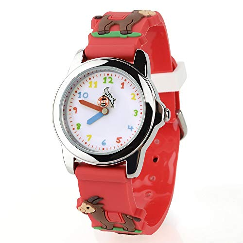1. FC Köln Kinderuhr Hennes, Uhr, Armbanduhr, Watch - Plus Lesezeichen I Love Köln