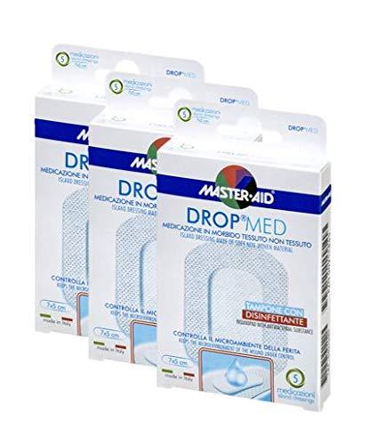 Vorteilspack, sensitive und luftdurchlässige Pflaster, hautfreundlicher Wundverband, DROP® MED MASTER AID (3 Boxen à 5 Pflaster (5cm x 7cm))