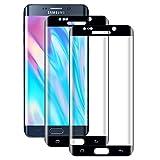 WISMURHI Lot de 2 Films de Protection d'écran en Verre Trempé pour Samsung Galaxy S6 Edge,...