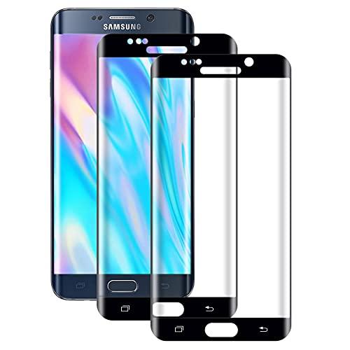 WISMURHI[2 unidades] Protector de pantalla de cristal templado para Samsung Galaxy S6 Edge, antiburbujas,HD transparente, delgado y de alta definición para Samsung S6 Edge