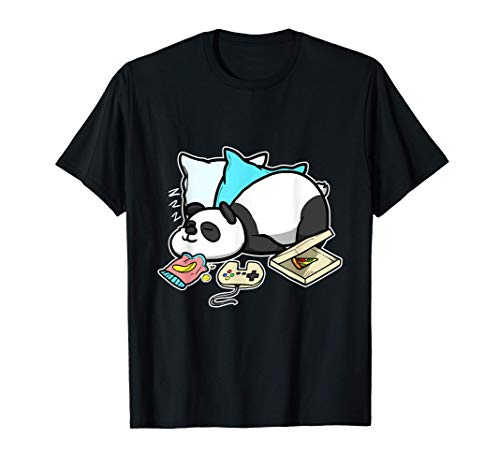 Fin De Semana Perfecto Juegos Dormir Gamer Panda Camiseta