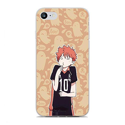 SweetST Shell Clear Coque Ultra Thin TPU Soft Silicone Frosted Compact Case Cover For Apple iPhone 7/8/SE 2020-Haikyuu-Hinata Anime Volleyball 8