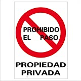 NM RD40025 - Señal Propiedad Privada PVC Glasspack 0,7...